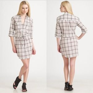 James Peres Plaid Shirt Dress